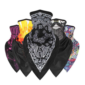 Seamless Multi-Purpose Vibrant Print Face Mask Neck Gaiter - Seamless Multi-Purpose Vibrant Print Face Mask Neck Gaiter