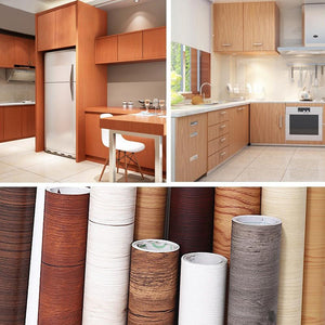 Self Adhesive Waterproof Wood Vinyl Wallpaper Roll - Self Adhesive Waterproof Wood Vinyl Wallpaper Roll