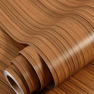 Self Adhesive Waterproof Wood Vinyl Wallpaper Roll