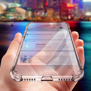 Shock Proof Transparent Silicone Case for Samsung-TrendyVibes.CO