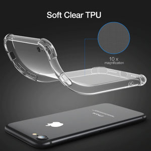 Shock Proof Transparent Silicone Case for Iphone-TrendyVibes.CO