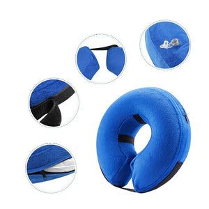 Protective Inflatable Elizabeth Collar for Pets