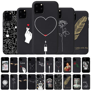 Soft Black Silicon Phone Case For IPhone - Soft Black Silicon Phone Case For IPhone 11