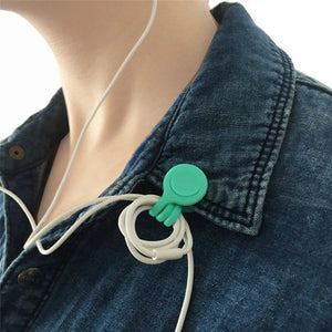Soft Silicone Magnetic Cord Holder Earphone Organizer - 3 Pieces Soft Silicone Magnetic Cord Holder Earphone Organizer