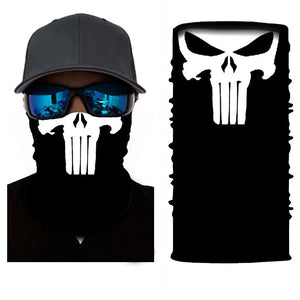 Stretchable And Seamless Cool Skulls Face Mask Neck Gaiter - Stretchable And Seamless Cool Skulls Face Mask Neck Gaiter