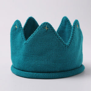 Soft Knitted Crown Baby Hats