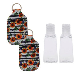 Hand Sanitizer Keychain with Refillable Bottle