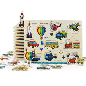 Fun and Educational Wooden Puzzles for Kids-TrendyVibes.CO