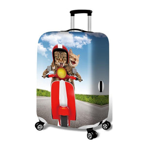 Elastic Kitten Cat Luggage and Trolley Protective Case Cover-TrendyVibes.CO