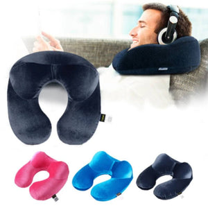 U-Shape Inflatable Neck Travel Pillow-TrendyVibes.CO