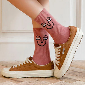 Colorful and Funny Emotion Socks