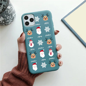Christmas Holiday Cartoon Pattern iPhone Case