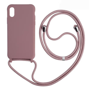 Silicone Phone Case with Lanyard Neck Strap