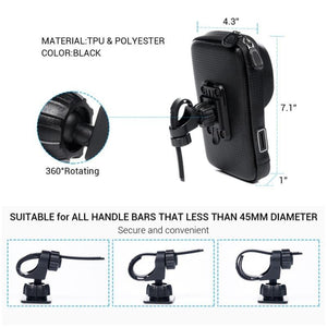Waterproof Bicycle Mobile Phone Holder For IPhone And Android - Waterproof Bicycle Mobile Phone Holder For IPhone And Android