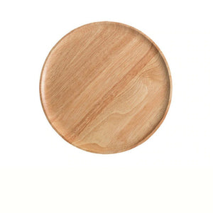 Round Shape Wooden Plate For Home Decoration