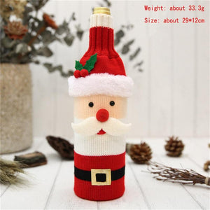 Christmas Wine Bottle Cover-TrendyVibes.CO