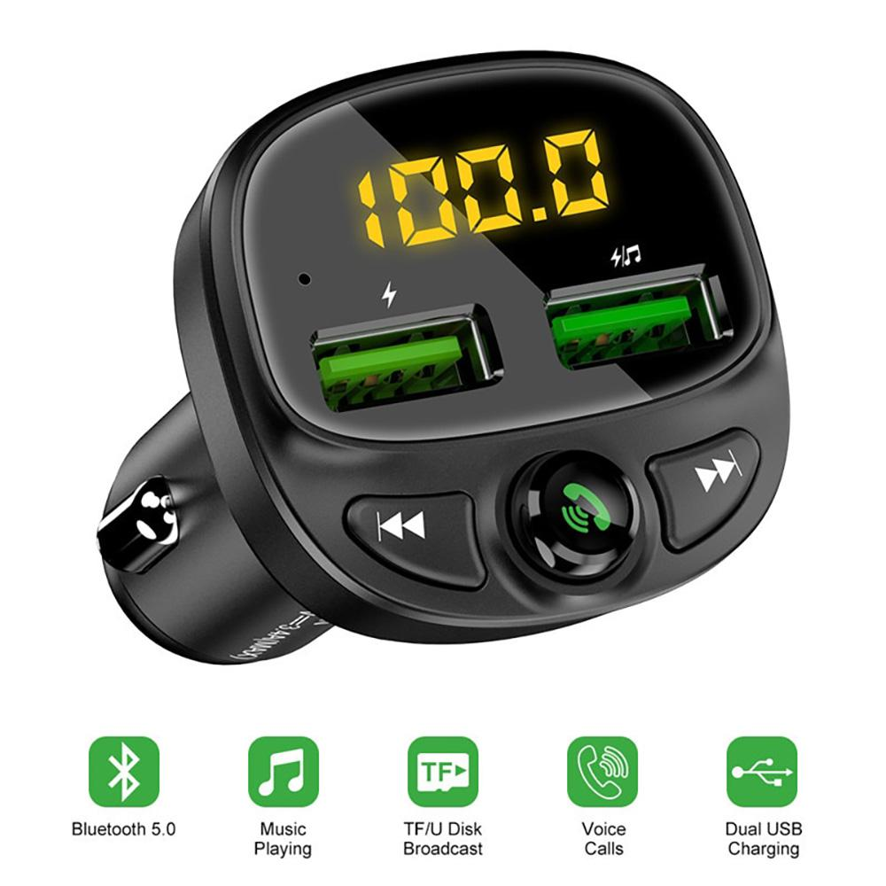 Wireless Bluetooth With Dual USB Car Charger For Mobile Phone