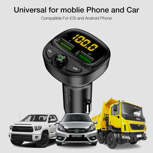 Wireless Bluetooth With Dual USB Car Charger For Mobile Phone - Wireless Bluetooth With Dual USB Car Charger For Mobile Phone