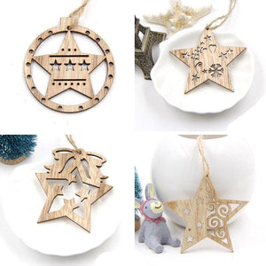 Rustic Wooden Christmas Ornaments-TrendyVibes.CO