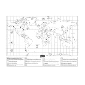 World Map Sticker Personalized Travel Scratch Off-TrendyVibes.CO