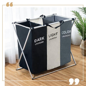 X-Shape Foldable Dirty Laundry Basket Organizer - X-Shape Foldable Dirty Laundry Basket Organizer