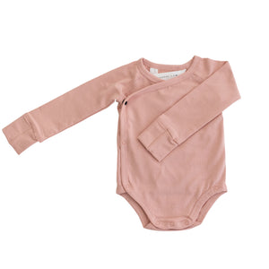 Long Sleeve Onesie - Coral