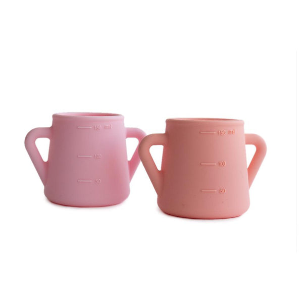 Silicon Sippy Cups - Pink & Peach