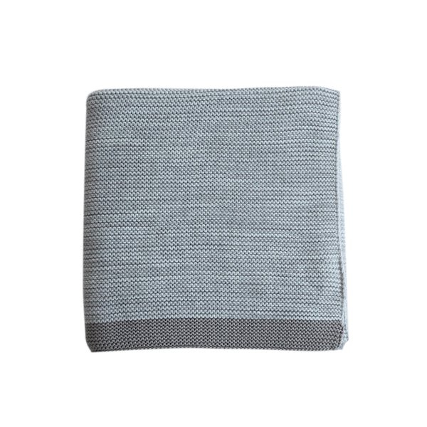 Pram Blanket - Grey Knit