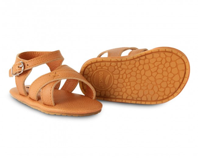 Leather Sandals - Brown