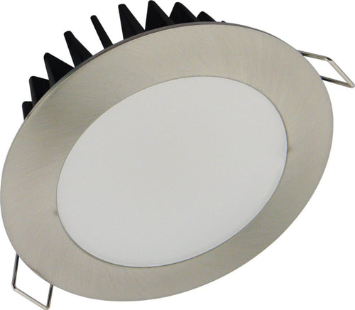 Step 12 LED 12W Downlight Satin Chrome frame Warm White - Lights Fans Action