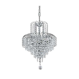 CASCADE 33cm Pendant - Chrome/Crystal