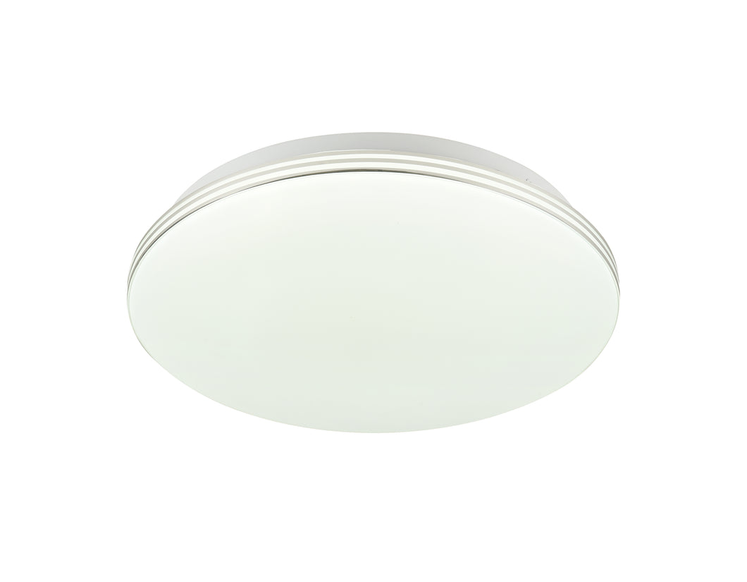 VENUS 18W LED Round Oyster Light Step Dimmable 3000K 28cm