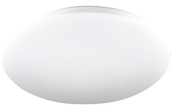 Eva 36W LED Oyster Light 43cm Cool White - Lights Fans Action