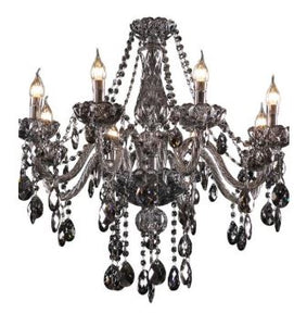 Theresa 8 Light Smoke Candelabra Chandelier - Lights Fans Action