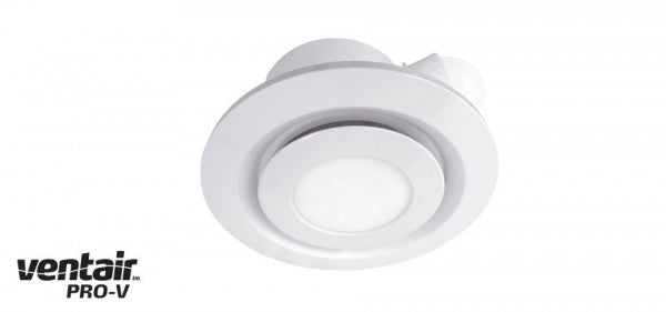 AIRBUS 200 - Premium Quality Side Ducted Round White Exhaust Fan With 10w LED Panel - Extra Low Profile - Lights Fans Action