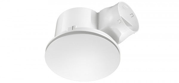 AIRBUS 300 - Maximum Airflow Premium Quality Side Ducted Exhaust Fan - Extra Low Profile - Round - White