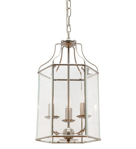 Arcadia 3 light pendant SATIN CHROME