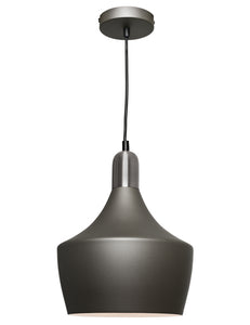 Bevo single pendant - SATIN CHROME