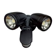 ILLUME LED Exterior Double Security Spotlight Black