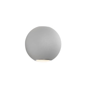Genoa Silver Exterior LED Wall Light