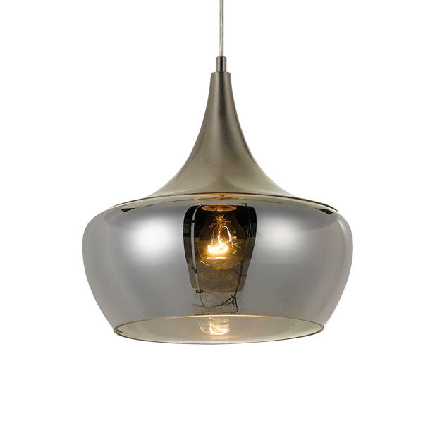 Landy 30cm Pendant Nickel/ Smoke