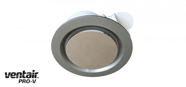 AIRBUS 250 Premium High Extraction Round Silver Exhaust Fan