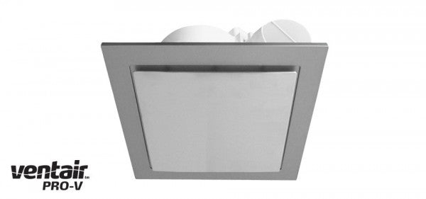 AIRBUS 200 Premium High Extraction Square Silver Exhaust Fan