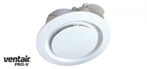 AIRBUS 250 Premium High Extraction Round White Exhaust Fan - Lights Fans Action