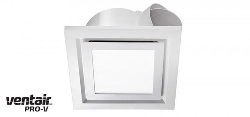 AIRBUS 250 - Premium Quality Side Ducted Square White Exhaust Fan With 14w LED Panel - Extra Low Profile