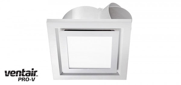 AIRBUS 250 - Premium Quality Side Ducted Square White Exhaust Fan With 14w LED Panel - Extra Low Profile - Lights Fans Action