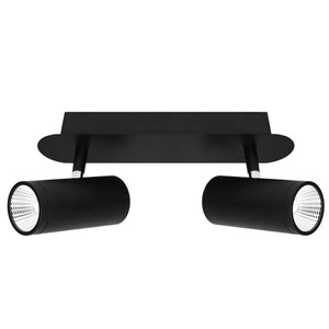Urban 2 Light LED Bar Light Black Dimmable - Lights Fans Action