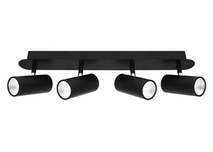 Urban 4 Light LED Bar Light Black Dimmable - Lights Fans Action