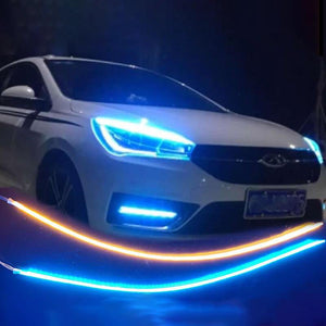 HOT! CAR FLEXIBLE DAYTIME RUNNING/ TURNING LIGHT ( PAIR )