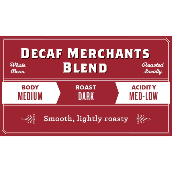 Decaf Merchants Blend Mountain Water Process